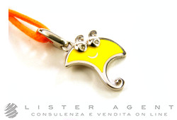 CHANTECLER ciondolo Scugnizzi Mini Manta in argento 925 e smalto giallo con diamanti Ref. 35584. NUOVO!