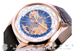 JAEGER-LeCOULTRE Geophysic Universal Time automatic in oro rosa 18Kt AUT Ref. Q8102520. NUOVO!