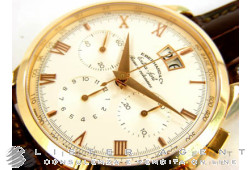 EBERHARD Extra-Fort Roue à colonnes Grande Date crono in oro rosa 18Kt Ref. 30062OR. NUOVO!