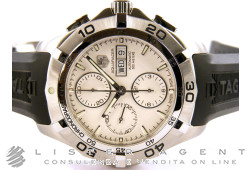 TAG HEUER Aquaracer crono in acciaio Argenté AUT Ref. CAF2011.FT8011. NUOVO!