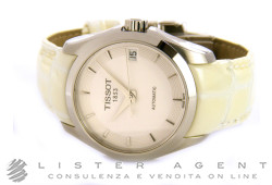 TISSOT T-Classic Couturier Automatic lady in acciaio AUT Bianco Ref. T0352071601100. NUOVO!