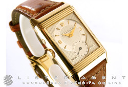 JAEGER-LeCOULTRE Reverso Duo Face Night and Day in oro giallo 18Kt Argenté Car. Man. Ref. 270.140.542. USATO!