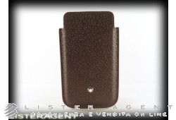 MONTBLANC porta SmartPhone Meisterstuck selection in pelle bordeaux scuro Ref. 109187. NUOVO!