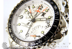 TX Sport Fly-Back Chronograph Compass 730 Series acciaio Argenté Ref. T3B911NX. NUOVO!