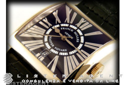 FRANCK MULLER Master Square Relief in oro bianco 18Kt Nero AUT Ref. 6000HSCDT. NUOVO!